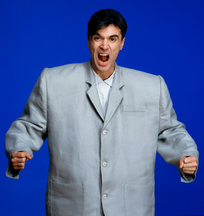 1983 --- David Byrne Wearing Big Suit --- Image by © Deborah Feingold/Corbis