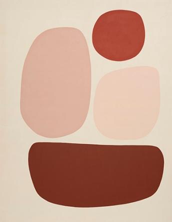Mari Quiñonero, being fragile, 2020, Acrylic and gouache on canvas, 71 x 55 inches
