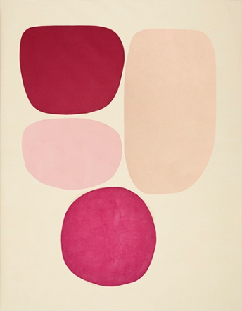 Mari Quiñonero, the journey, 2020, Acrylic and gouache on canvas, 71 x 55 inches